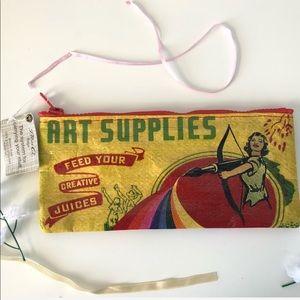 Handbags - NWT Blue Q Recycled Pencil Case Art Supplies